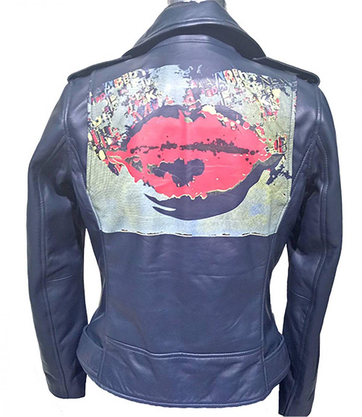 PERFECTO Women's Leather Jacket Storiatipic - 2
