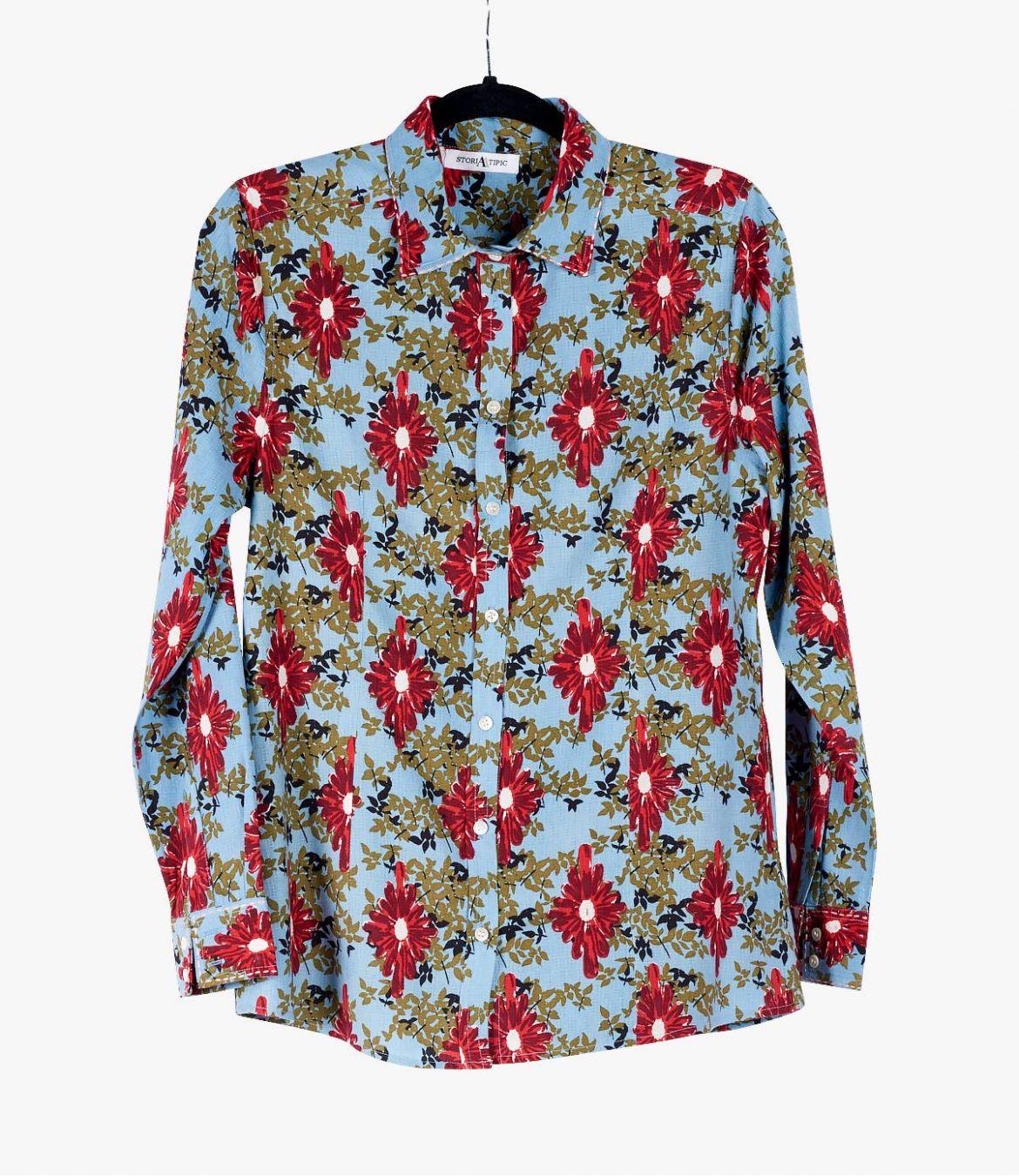 BONI ALEA Cotton Shirt, Women's Modal Storiatipic - 2
