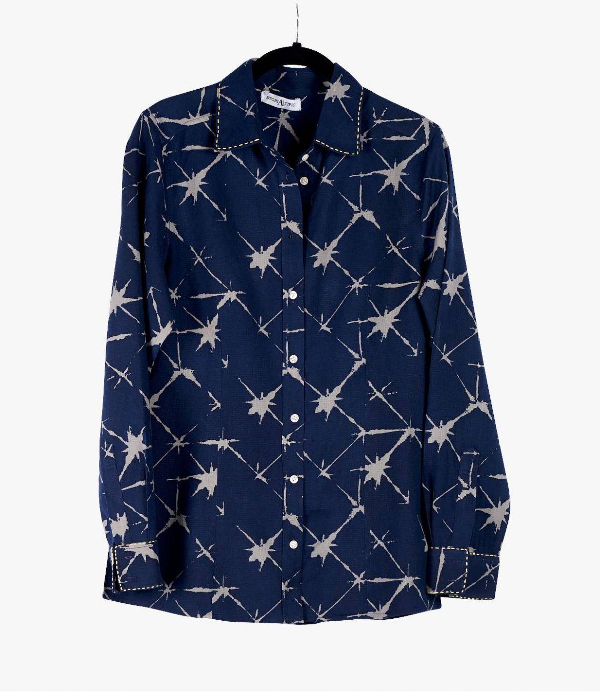 BONI KDO Cotton Shirt, Modal for Women Storiatipic - 2