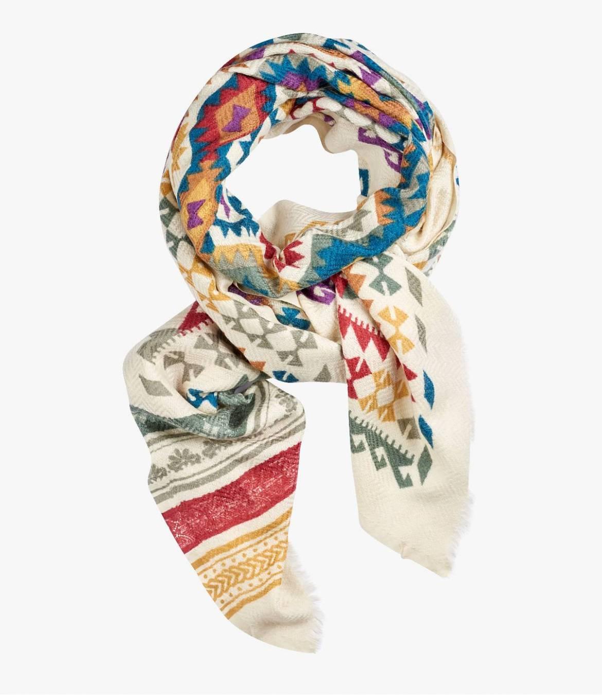 COLOR Wool scarf, Women's Silk 75x190 cm Storiatipic - 3