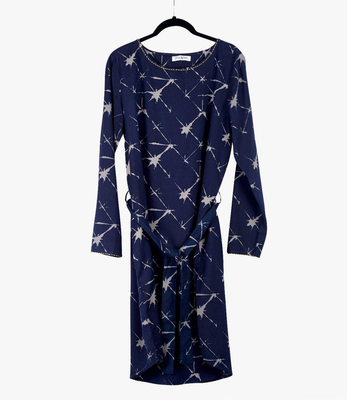 MARI KDO Robe en Coton, Modal pour Femme