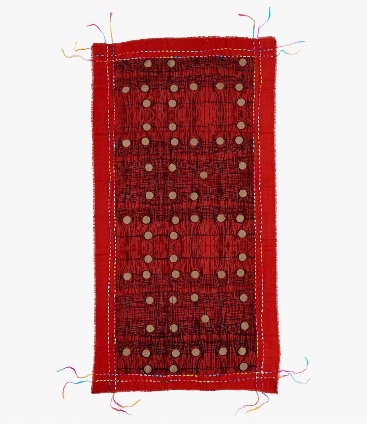 OBLIC Women's Wool Scarf 100X200 cm Storiatipic - 6
