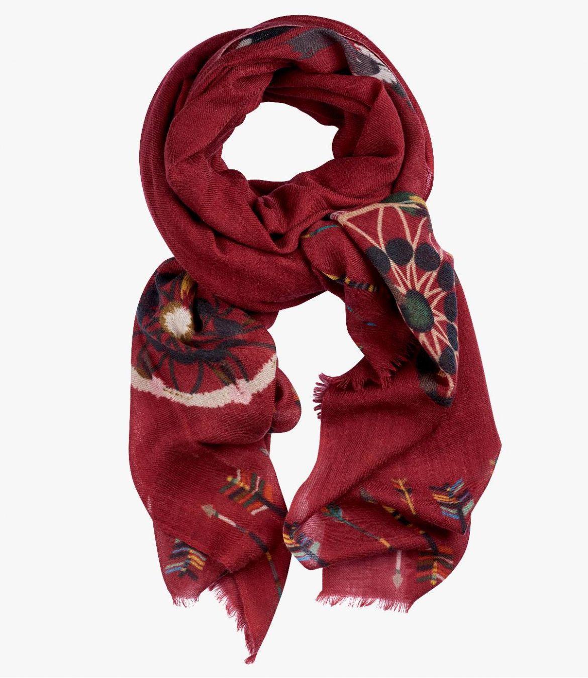 REVE Women's Wool Scarf 90x200 cm Storiatipic - 6