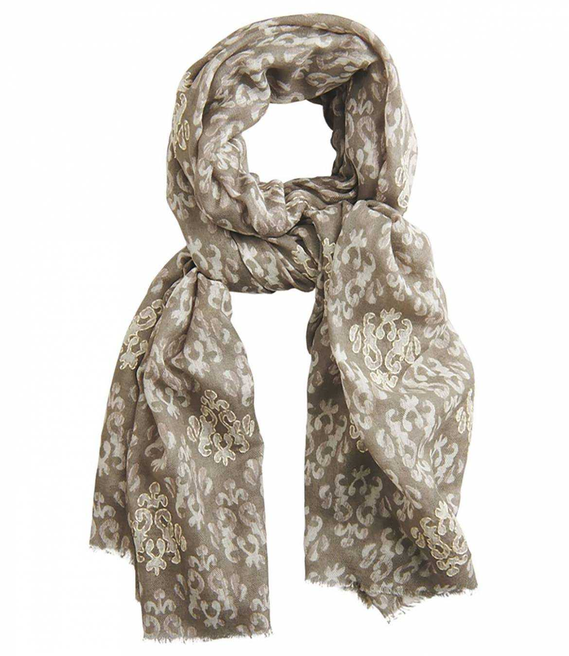 CHARMANTE Modal scarf, Women's wool 100 x 200 CM Storiatipic - 1