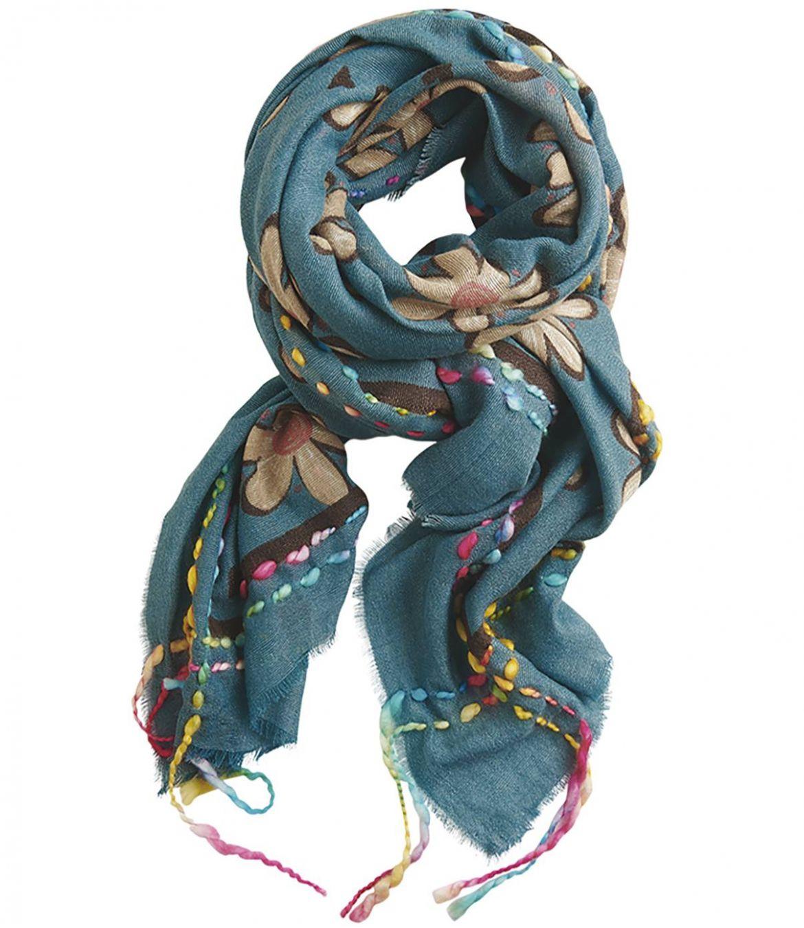 FRAICHE Wool scarf, Acrylic for Women 90 x 200 CM Storiatipic - 1