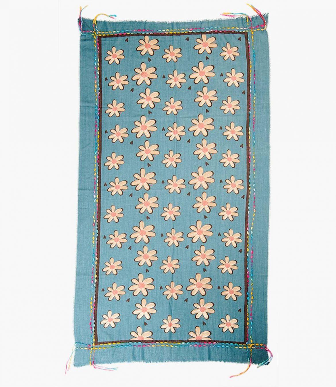 FRAICHE Wool scarf, Acrylic for Women 90 x 200 CM Storiatipic - 2