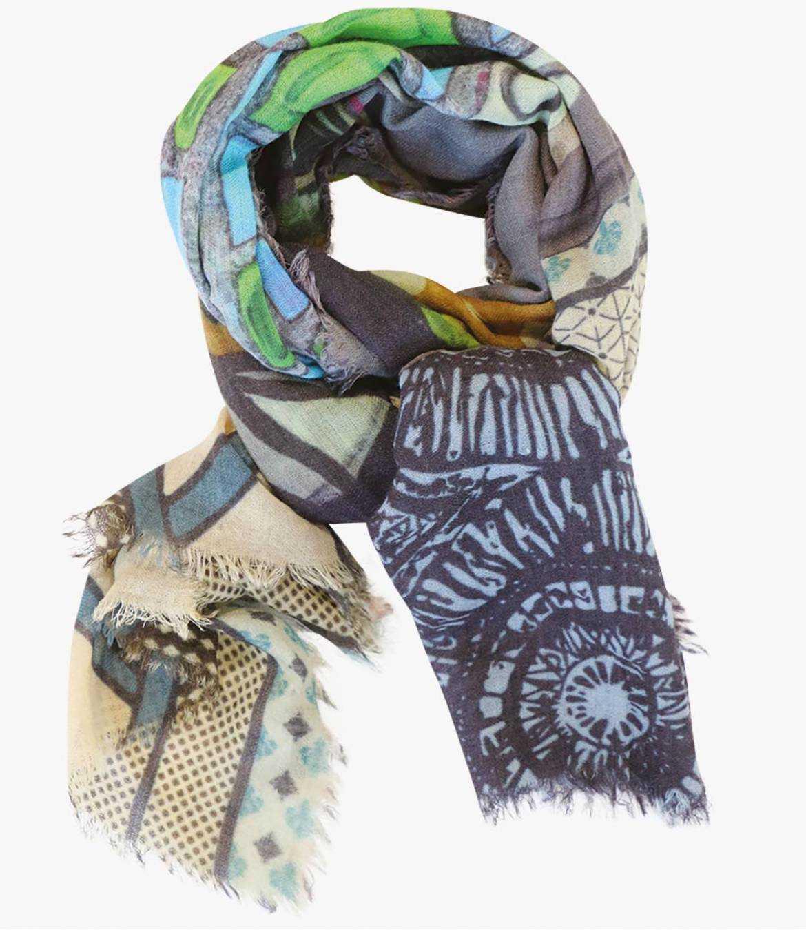 LUCIDE Wool scarf, Nylon for Women 100 x 190 CM Storiatipic - 3