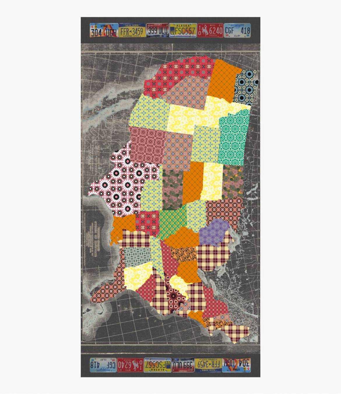 ARTUS Foulard en Coton pour Homme 100x200 cm Storiatipic - 1