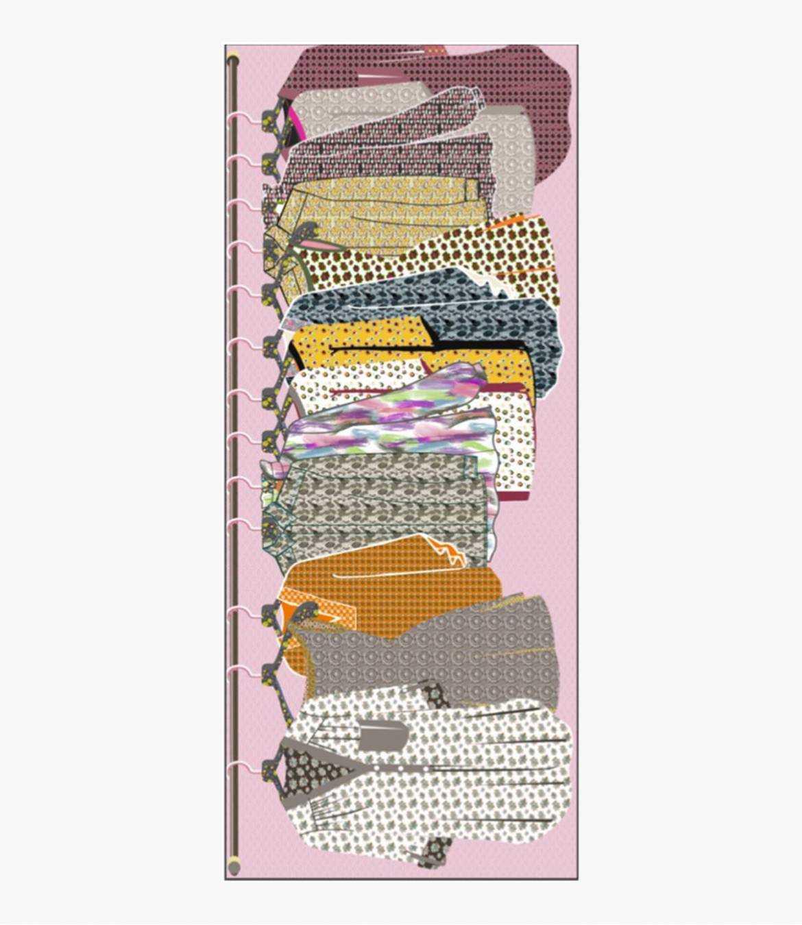 LADY Foulard en Coton, Modal, Lin pour Femme 80x180 cm Storiatipic - 1