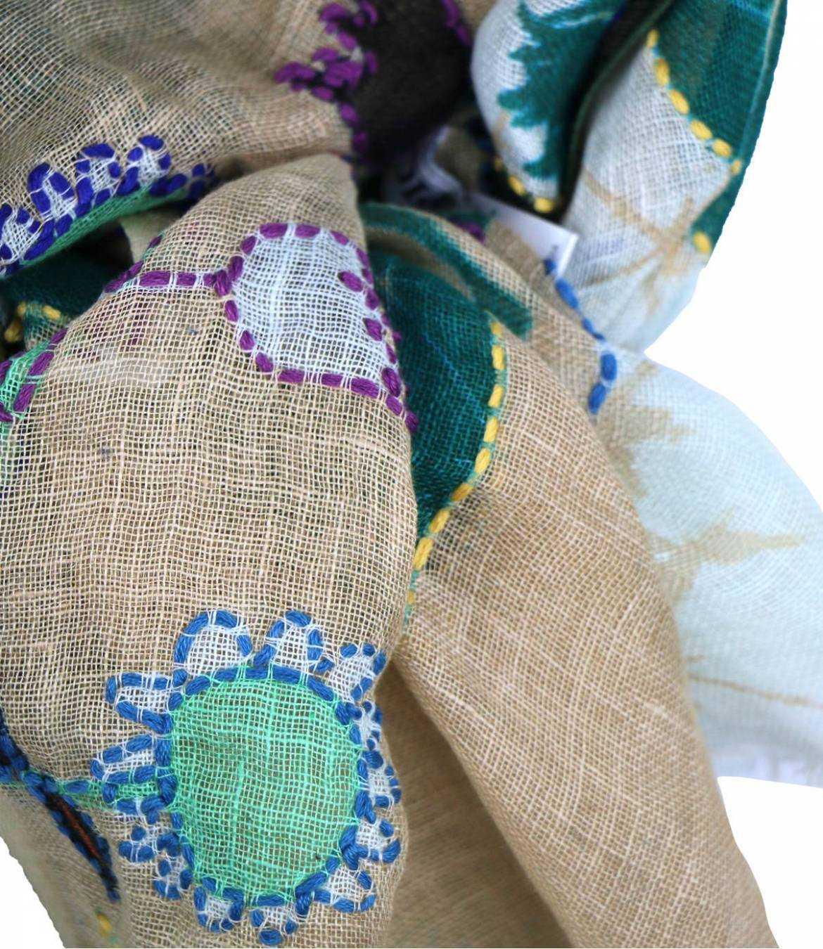 ALICIA Lin scarf for Women 80 x 190 CM Storiatipic - 3