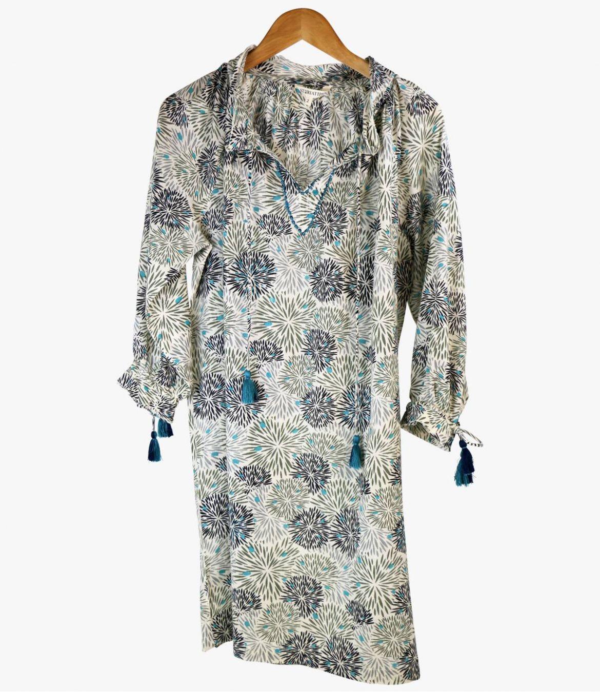 BESS ECLAT Cotton Dress for Women Storiatipic - 2