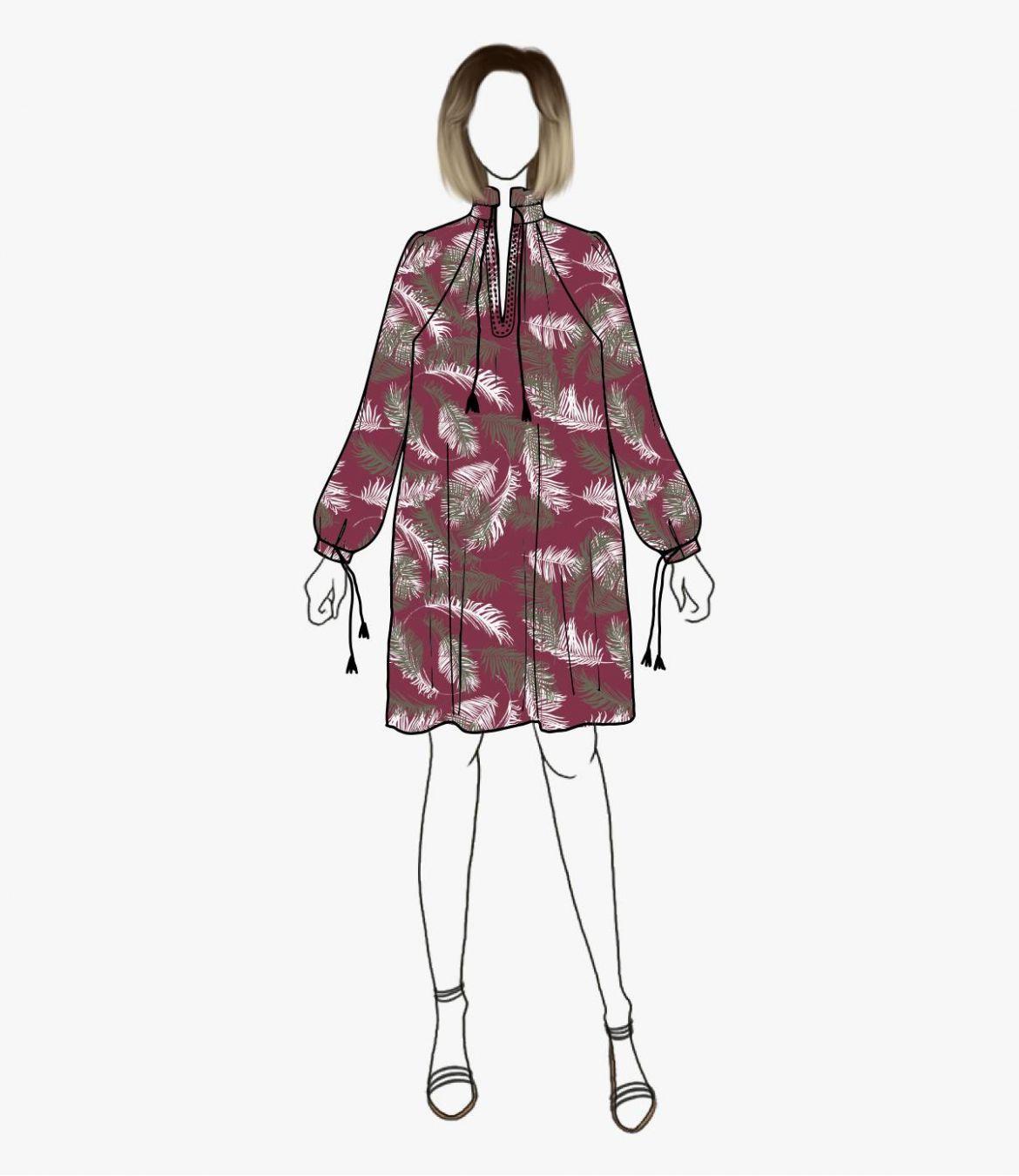 BESS PALOMA Robe en Coton pour Femme Storiatipic - 3
