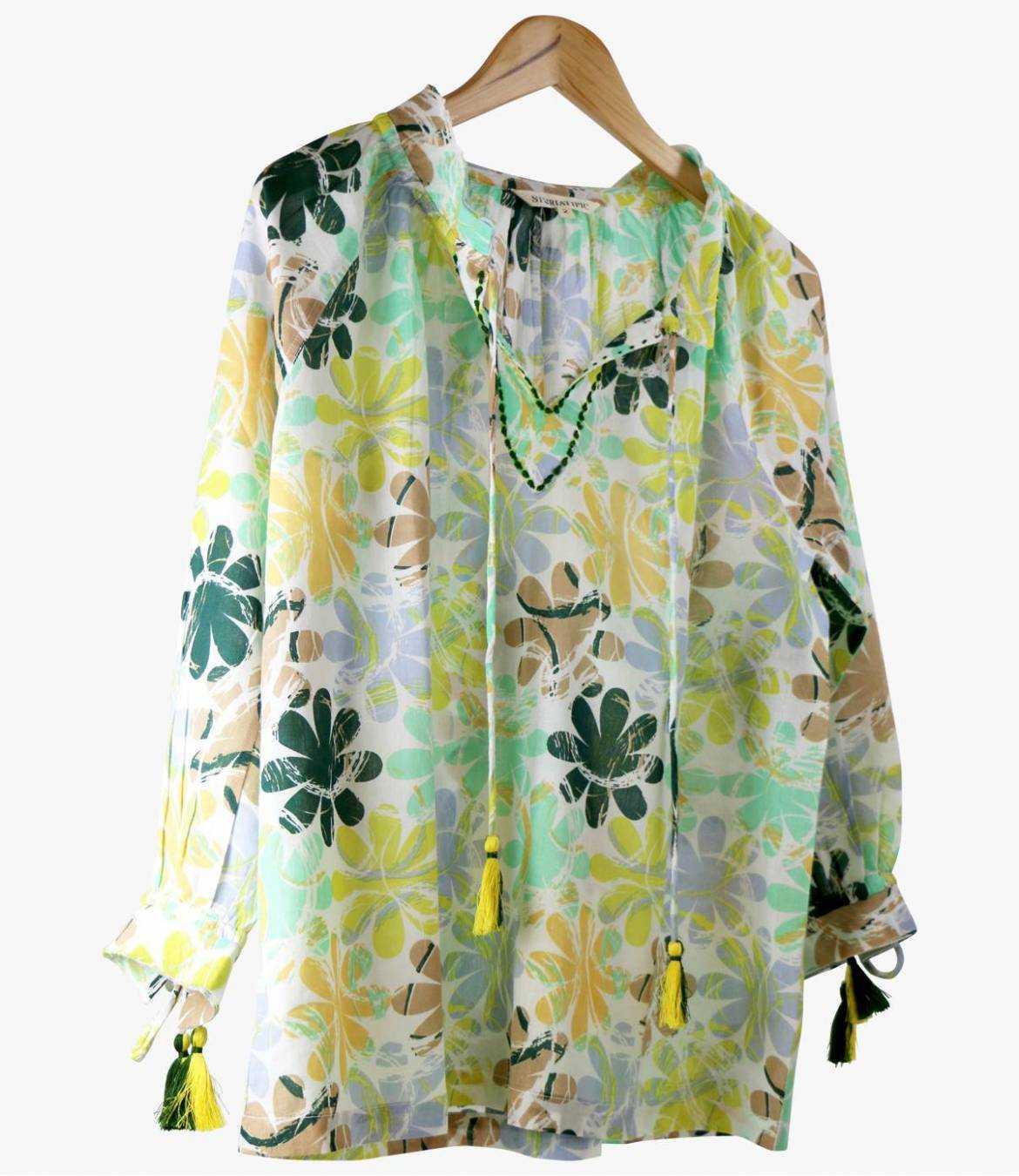 BETI ELLY Cotton Blouse for Women Storiatipic - 3
