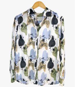 BONI VANYA Women's Modal Shirt Storiatipic - 1
