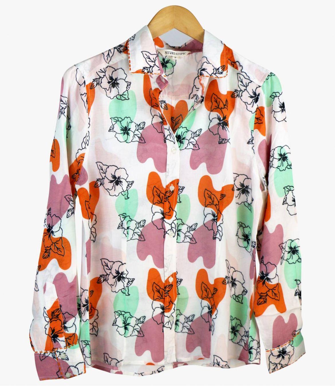 BONI VANYA Women's Modal Shirt Storiatipic - 3