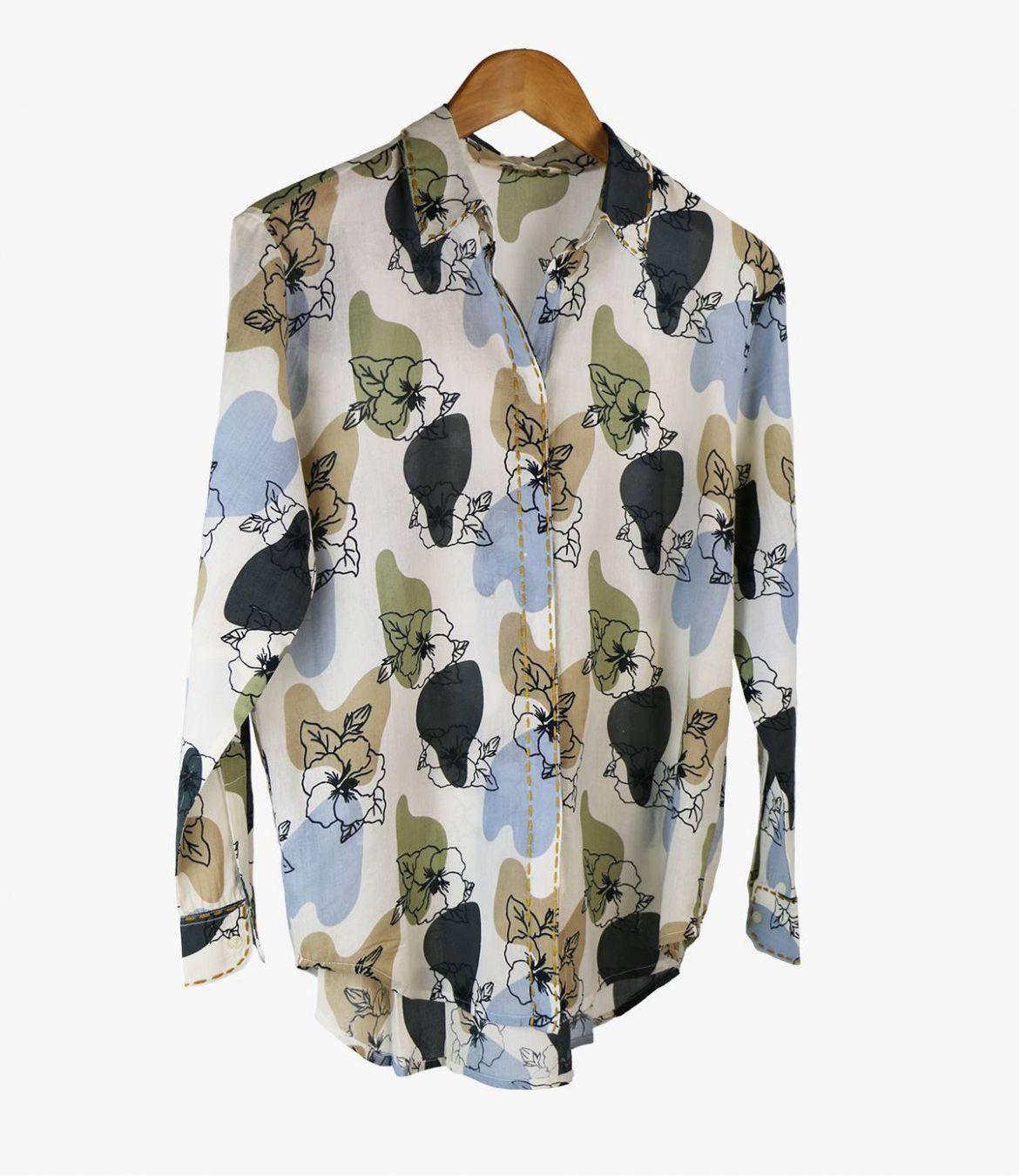 CARI VANYA Cotton Shirt for Women Storiatipic - 1