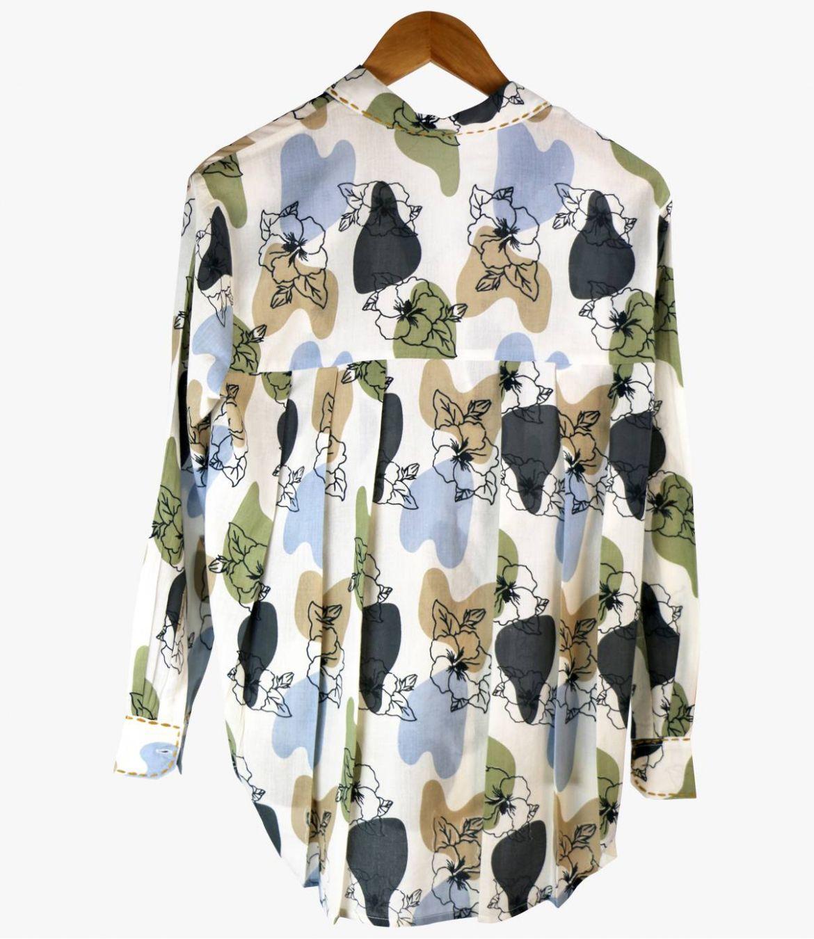 CARI VANYA Cotton Shirt for Women Storiatipic - 2