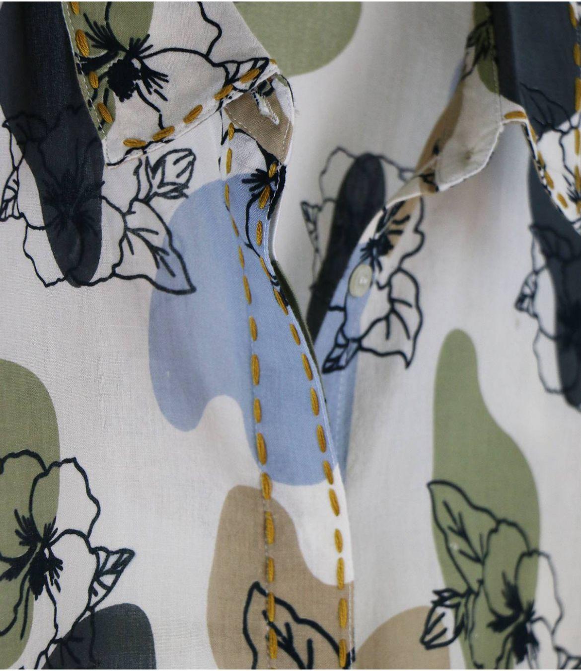 CARI VANYA Chemise en Coton pour Femme Storiatipic - 3