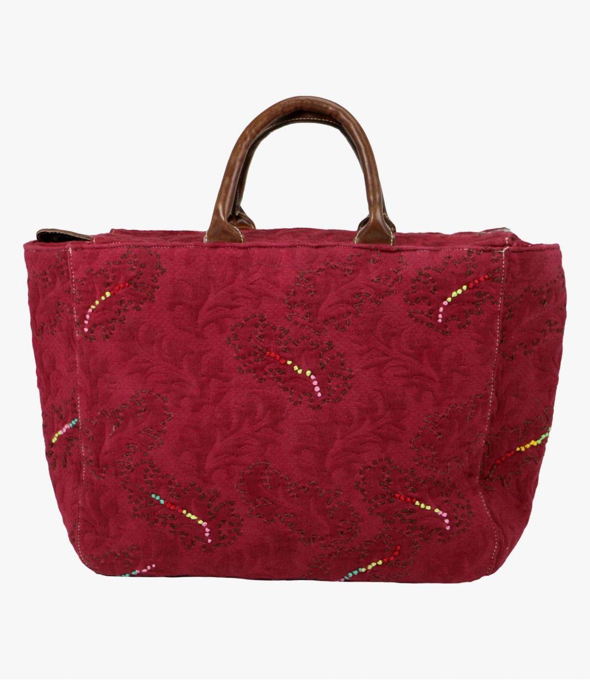 CITY - GAMME CITY Cotton Bag, Women's Leather 38x32x15cm Storiatipic - 7