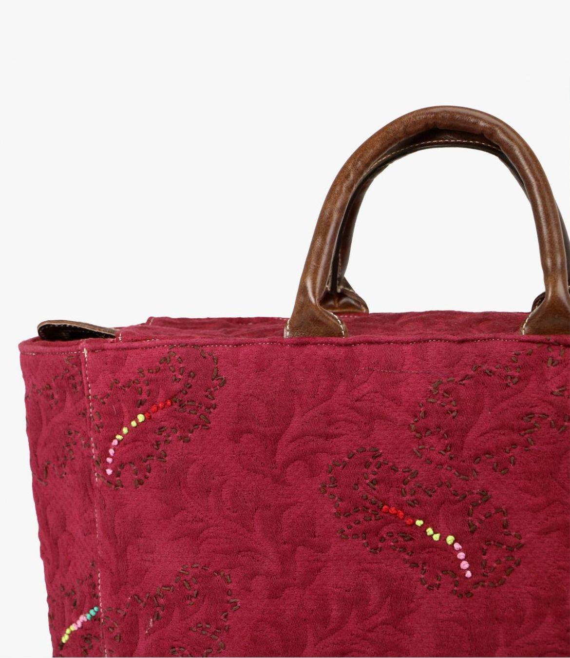 CITY - GAMME VILLE Sac en Coton, Cuir pour Femme 38x32x15cm Storiatipic - 8