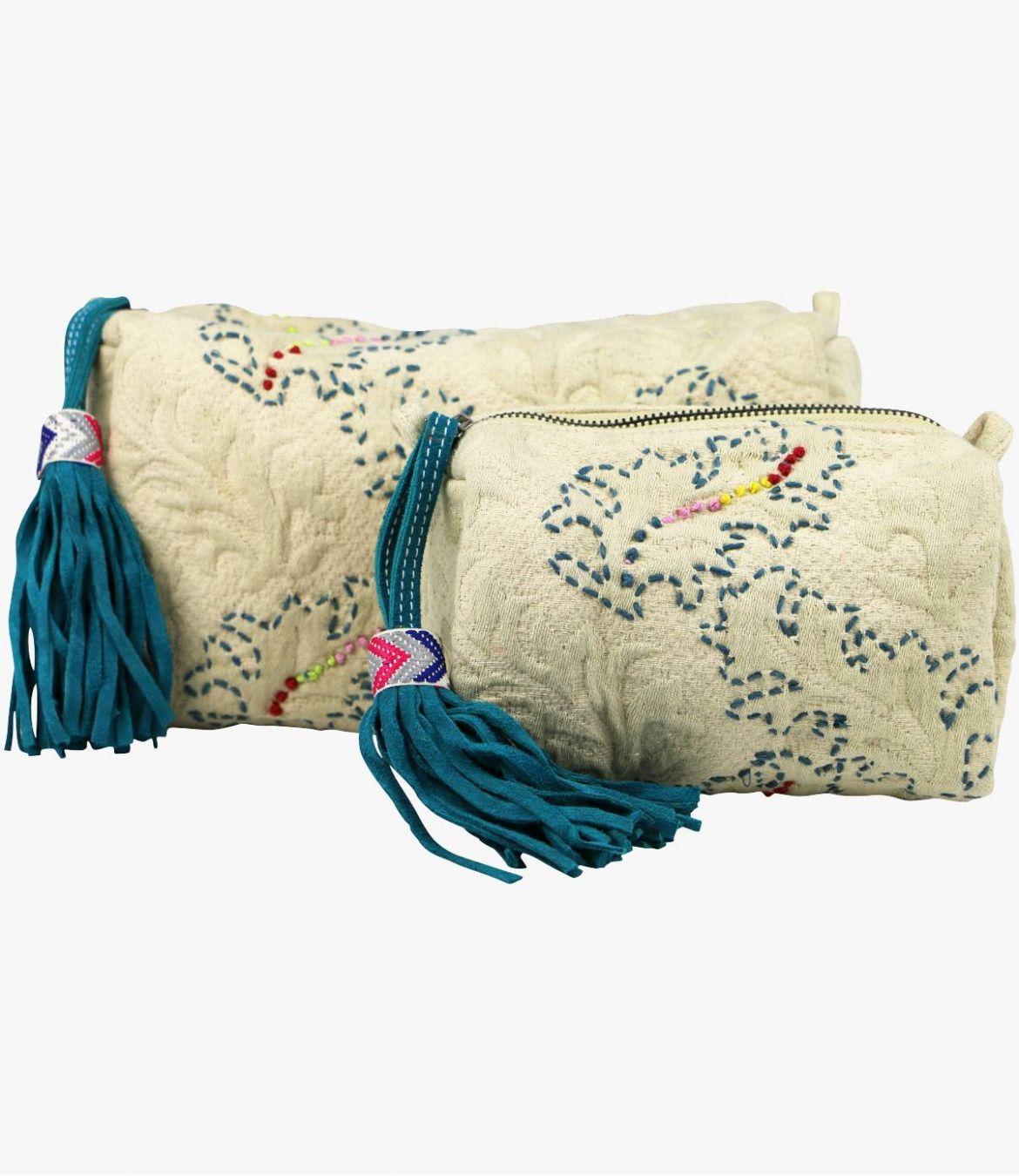 COSM - GAMME VILLE Pochette en Coton pour Femme 20x7x11cm / 29x14x14cm Storiatipic - 2