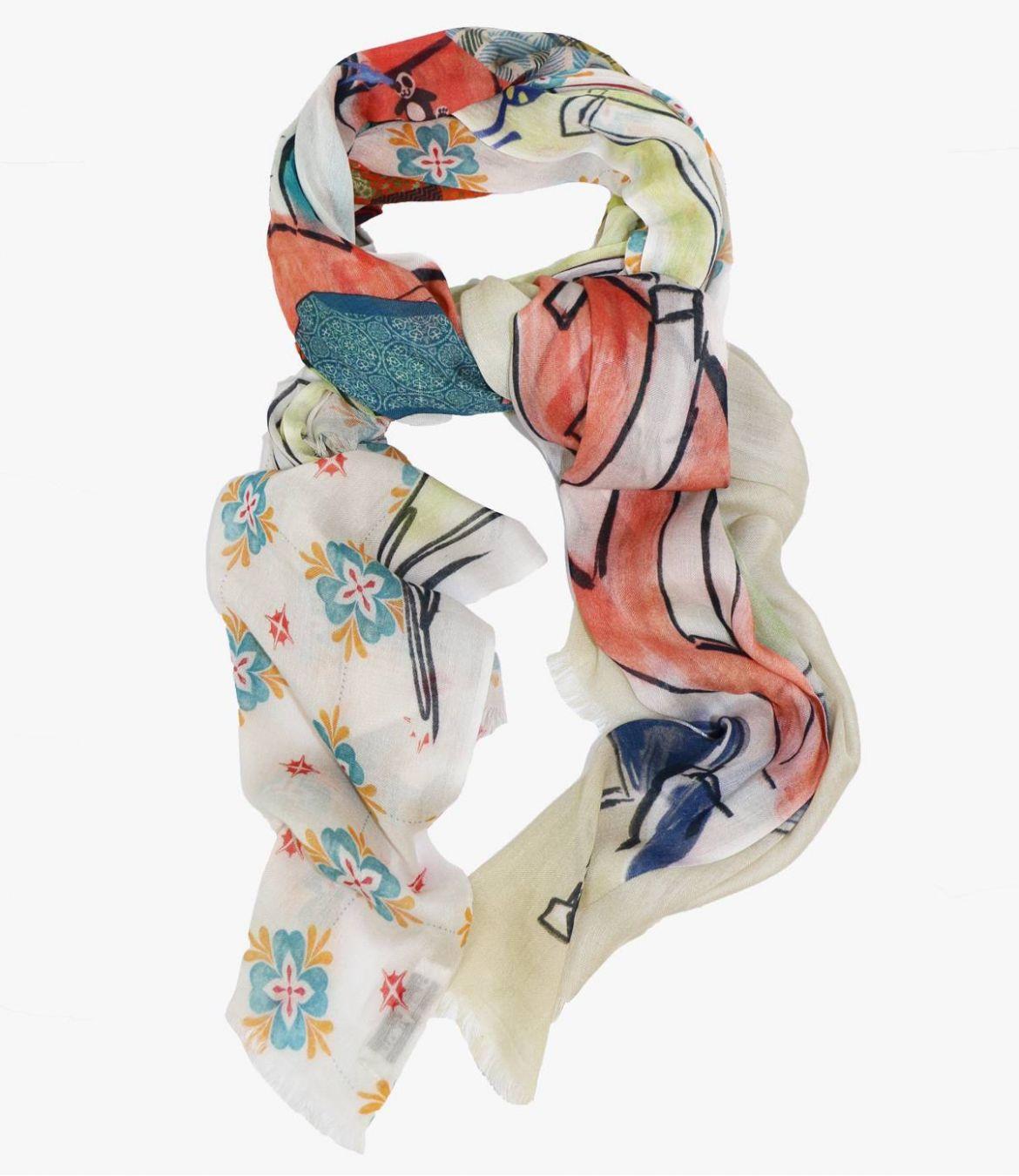 DOLCE Modal scarf, Women's Silk 100 x 200 CM Storiatipic - 1