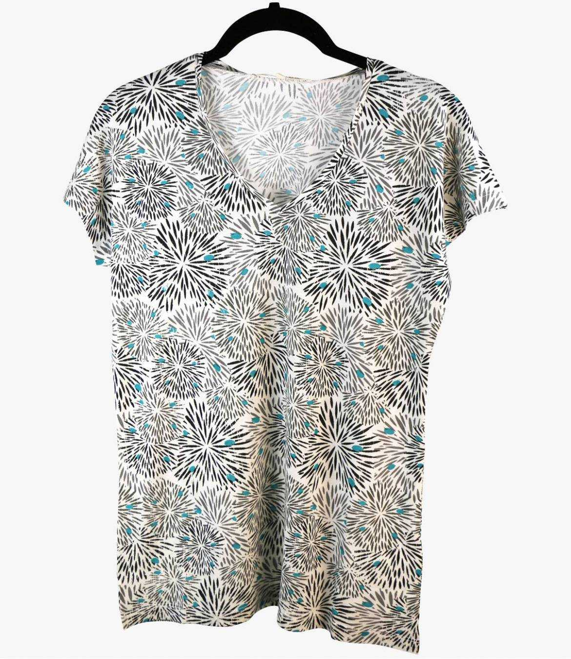 EVI ECLAT T-Shirt en Coton, Modal pour Femme Storiatipic - 1