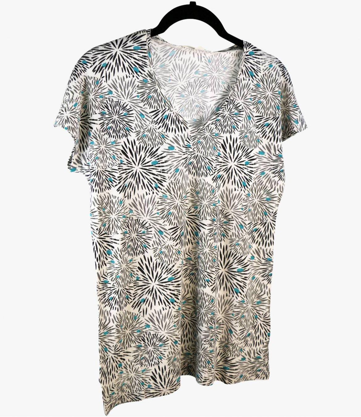 EVI ECLAT T-Shirt en Coton, Modal pour Femme Storiatipic - 2