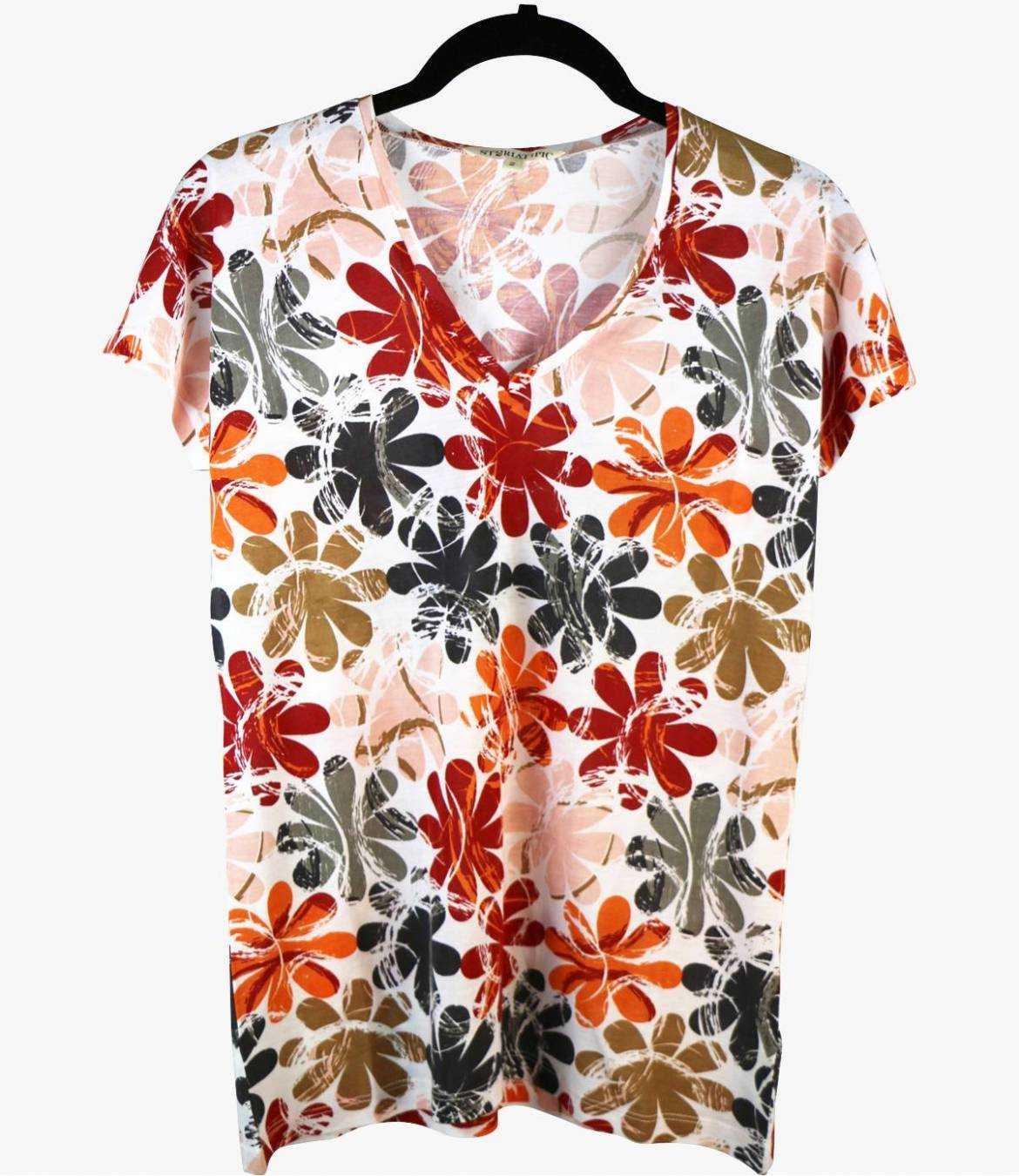 EVI ELLY T-Shirt en Coton, Modal pour Femme Storiatipic - 1