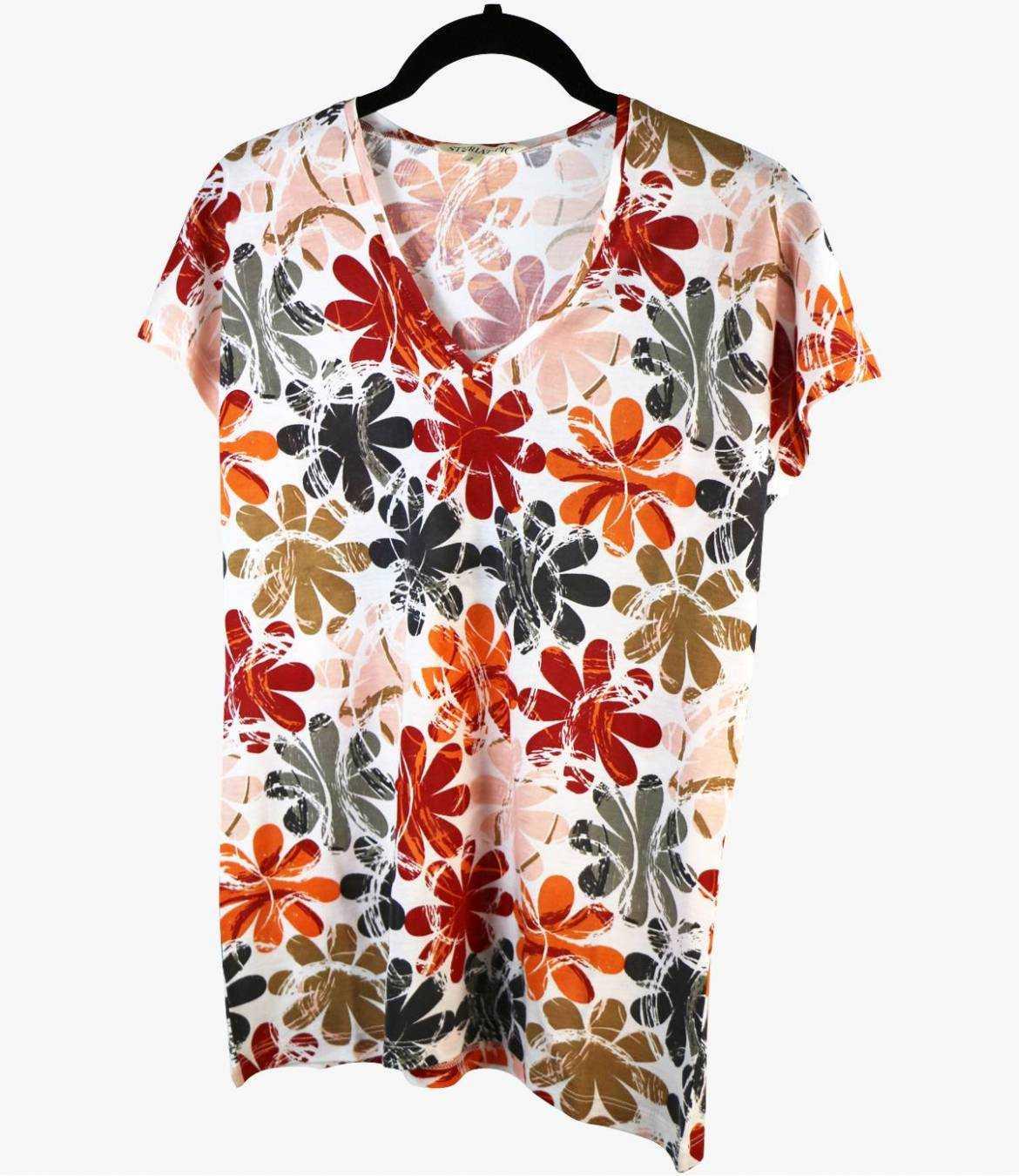 EVI ELLY T-Shirt en Coton, Modal pour Femme Storiatipic - 2