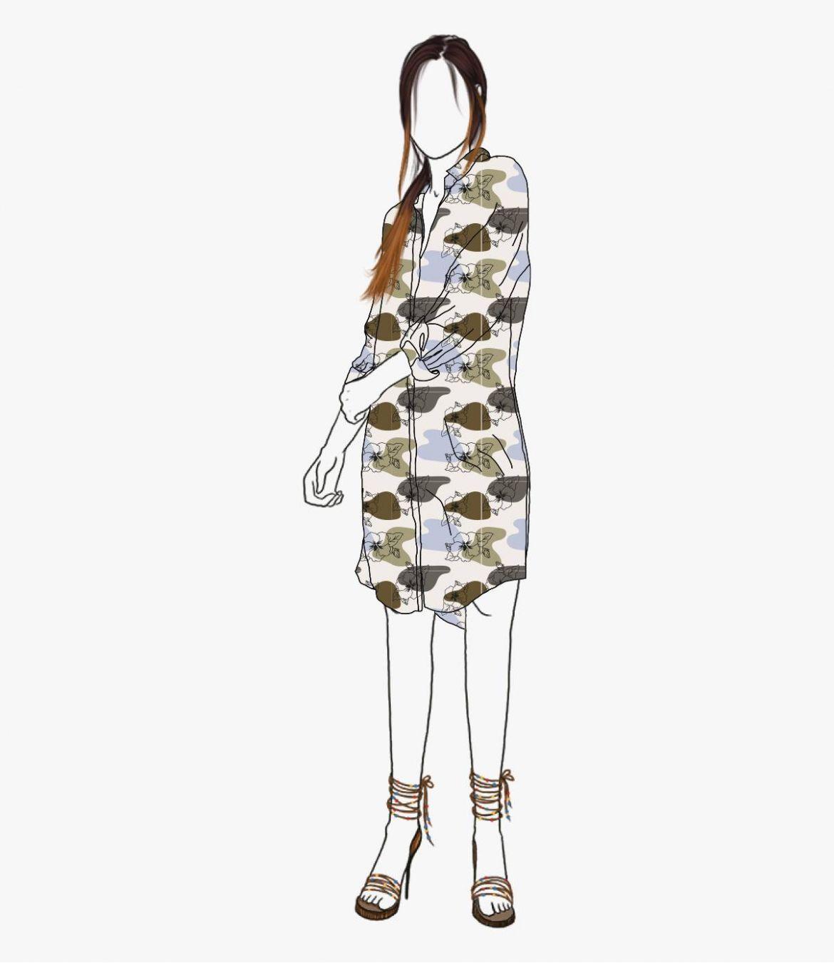 KAIA VANYA Women's Modal Dress Storiatipic - 3
