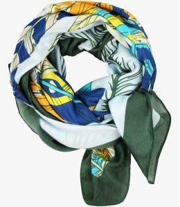 OAHU Cotton scarf, Women's Silk 100 x 100 CM Storiatipic - 3