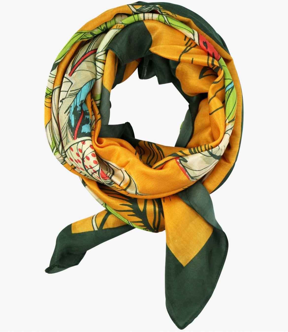OAHU Cotton scarf, Women's Silk 100 x 100 CM Storiatipic - 5