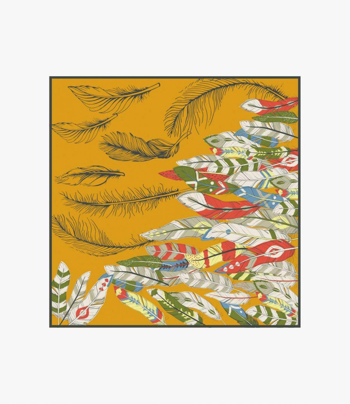 OAHU Cotton scarf, Women's Silk 100 x 100 CM Storiatipic - 6