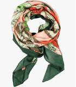 OAHU Cotton scarf, Women's Silk 100 x 100 CM Storiatipic - 7