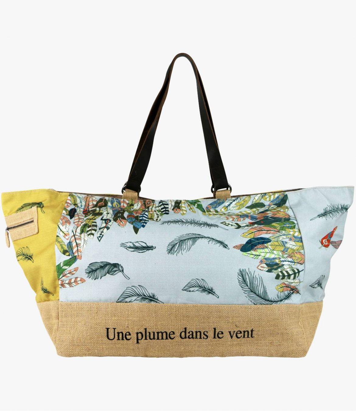 WE - GAMME PLAGE Sac en Polyester, Jute, Cuir pour Femme 45x35x30cm Storiatipic - 6