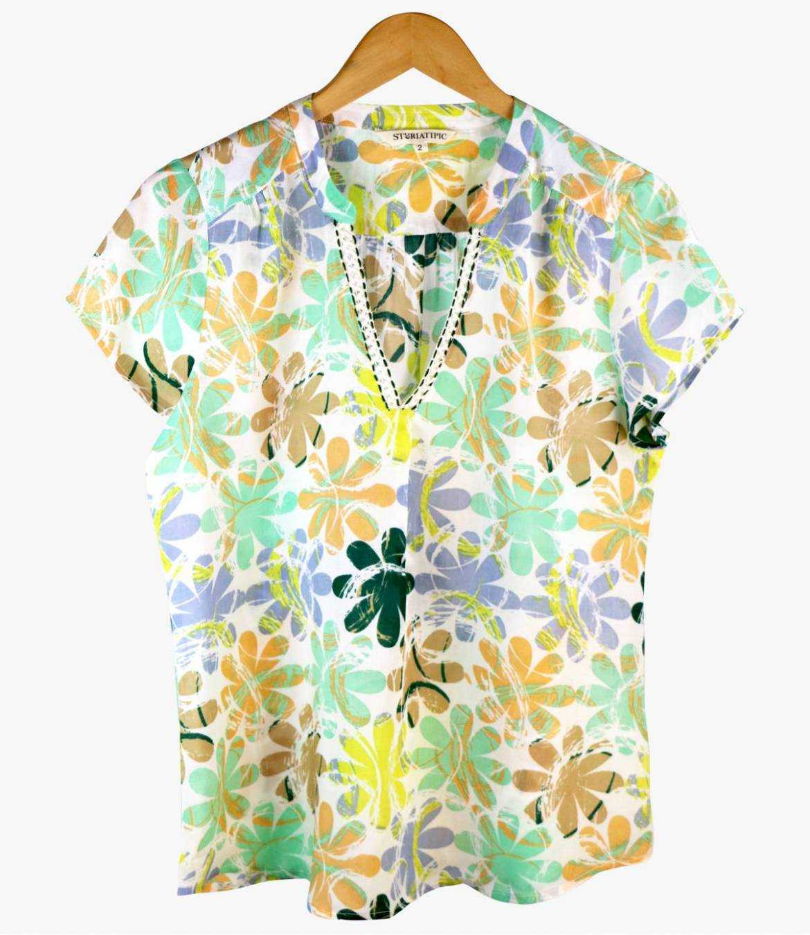 ZOE ELLY T-shirt en Modal pour Femme Storiatipic - 4