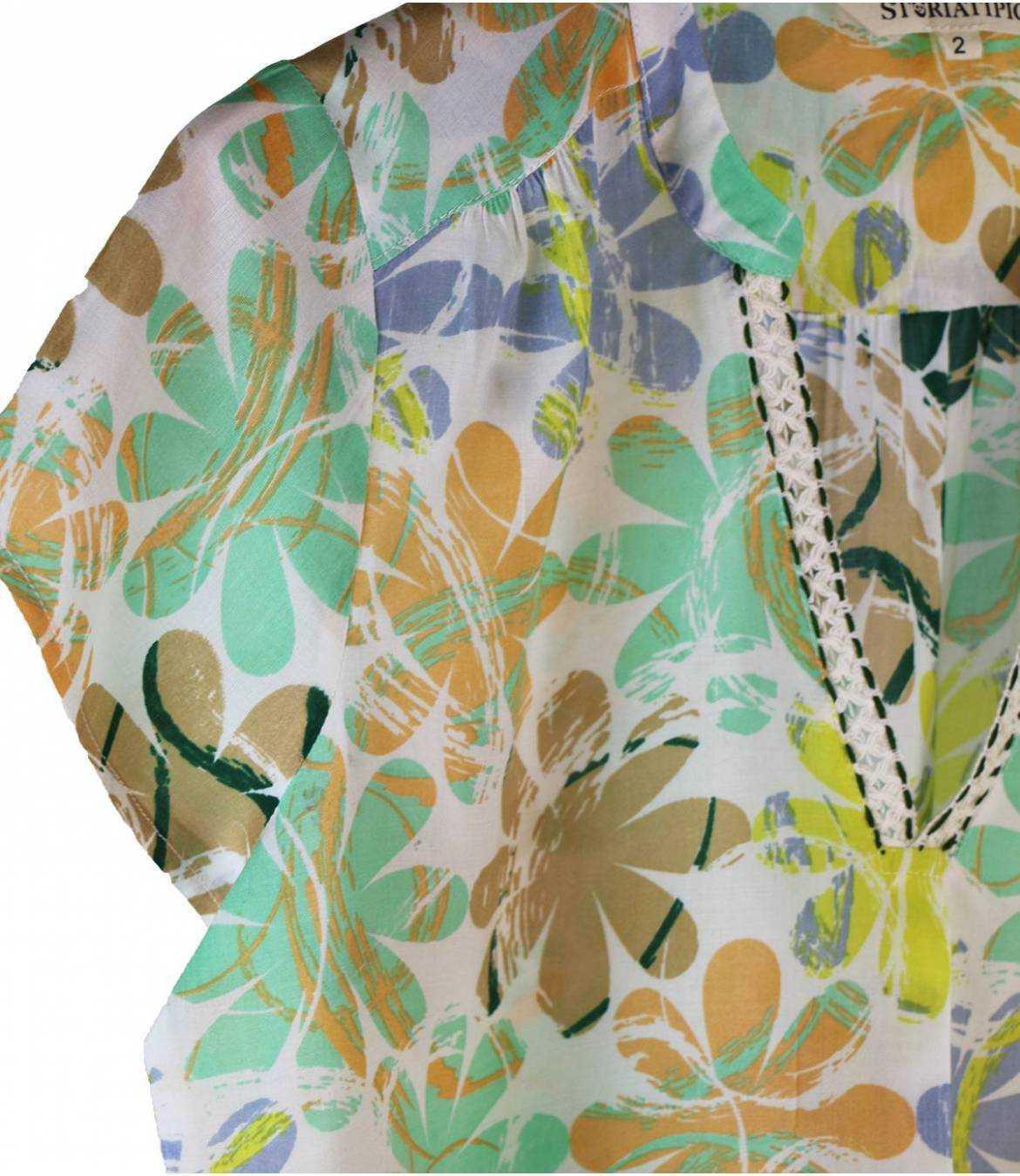 ZOE ELLY T-shirt en Modal pour Femme Storiatipic - 5