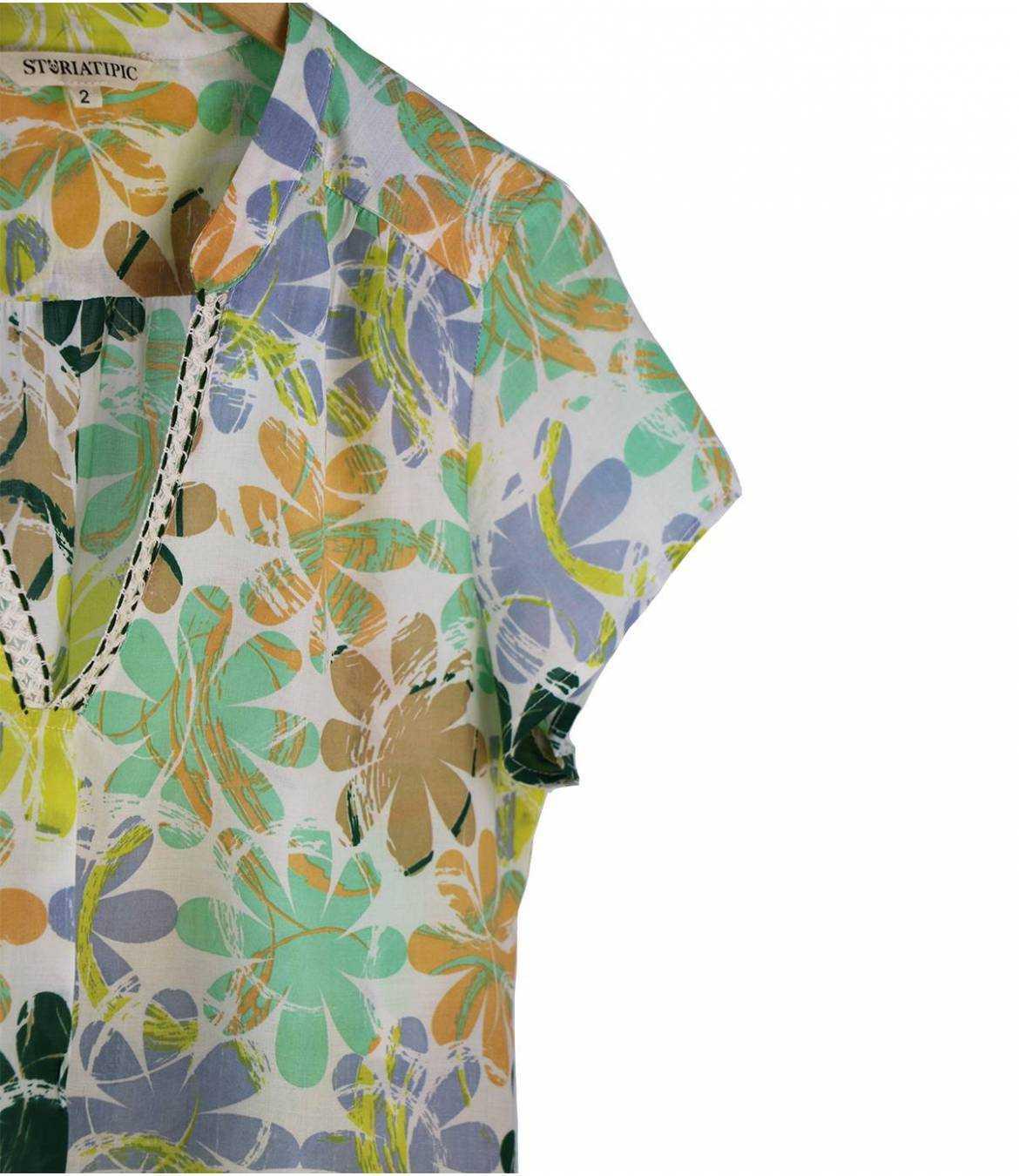 ZOE ELLY T-shirt en Modal pour Femme Storiatipic - 6