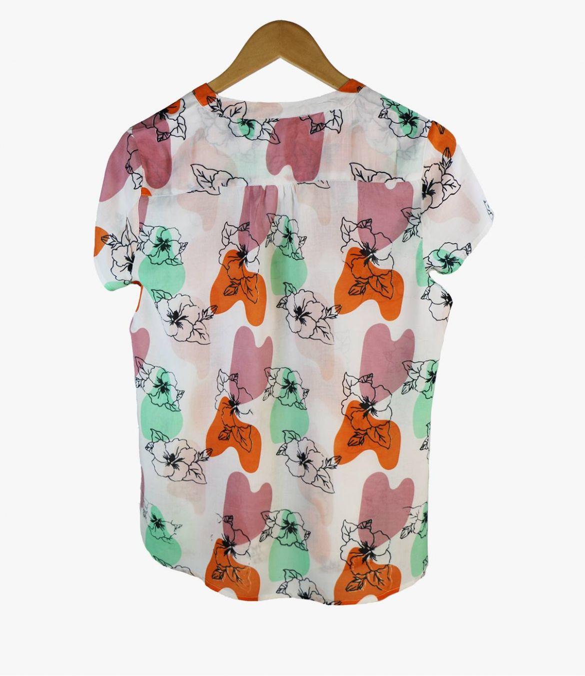 ZOE VANYA Women's Modal T-shirt Storiatipic - 4