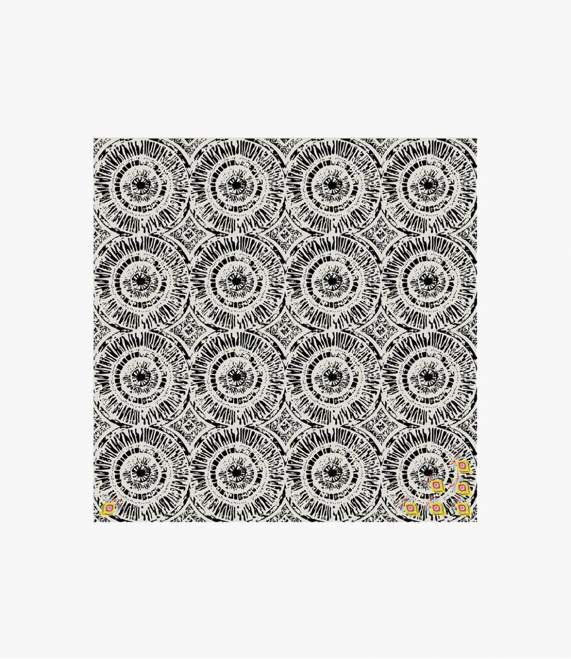 PIPA Women's Cotton Scarf 60X60 cm Storiatipic - 3