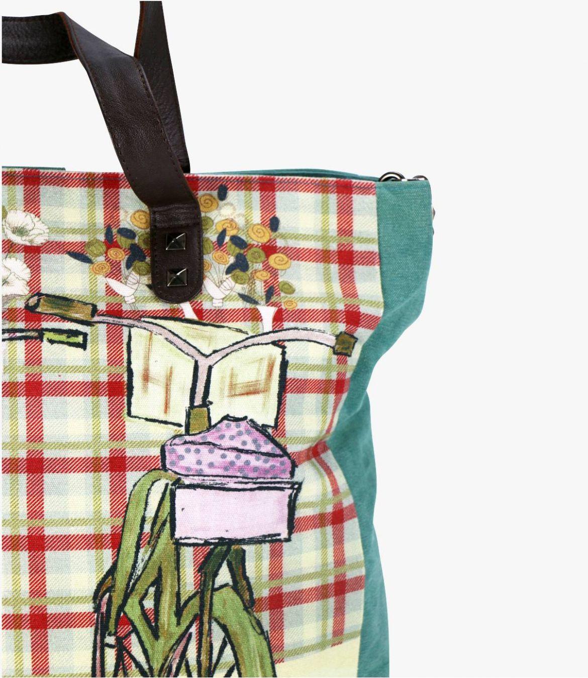 HAPPY - GAMME VOYAGE Sac en Coton pour Femme 38x36x10/15cm Storiatipic - 6