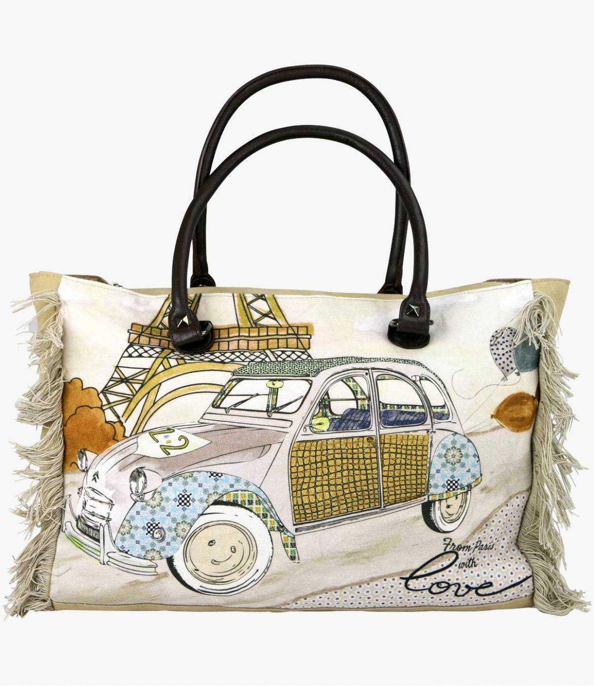 CRUISE - GAMME VOYAGE Women's Cotton Bag 40x30x15 cm Storiatipic - 4
