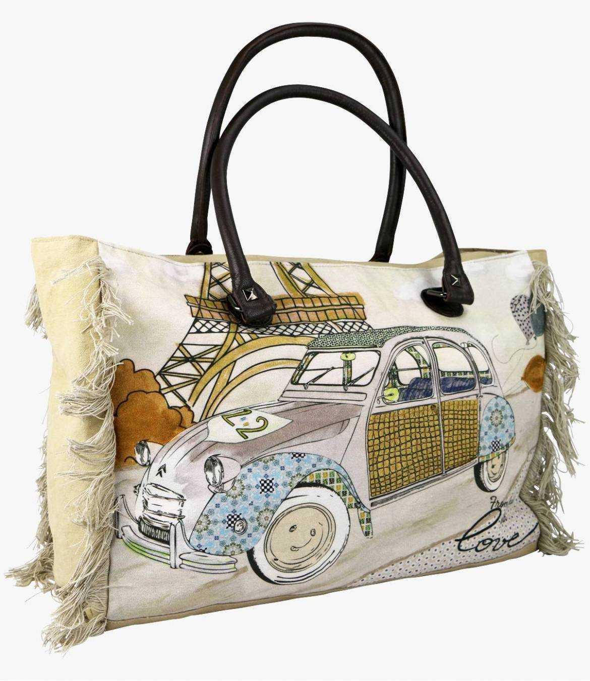 CRUISE - GAMME VOYAGE Women's Cotton Bag 40x30x15 cm Storiatipic - 5