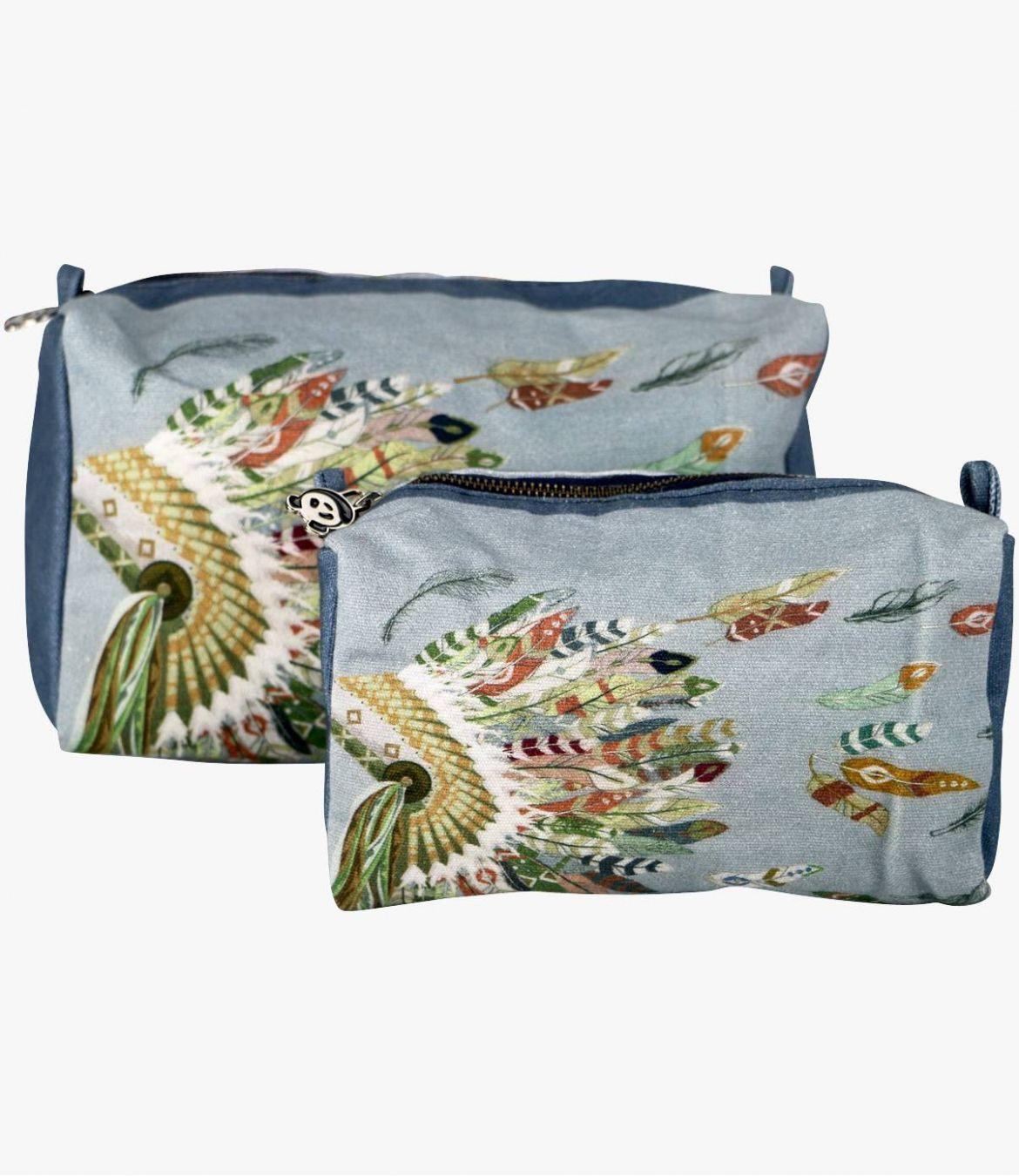 COSM - GAMME VOYAGE Women's Cotton Pouch 20x7x11cm / 26x14x14cm Storiatipic - 4