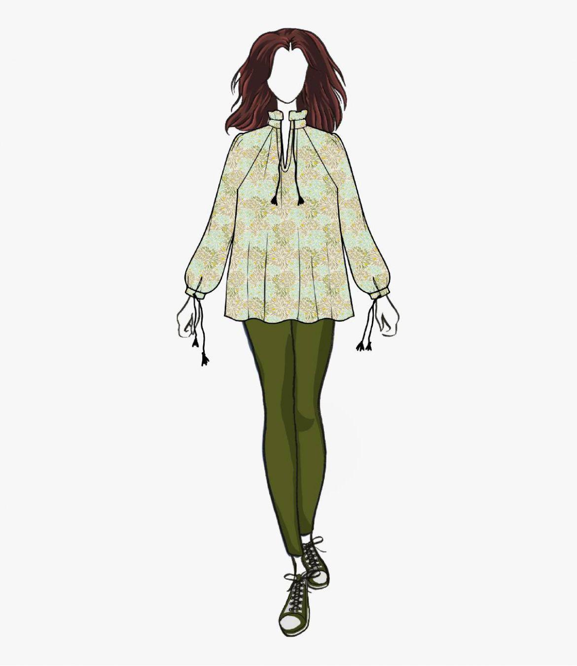 BETI ECLAT Blouse en Coton pour Femme Storiatipic - 6