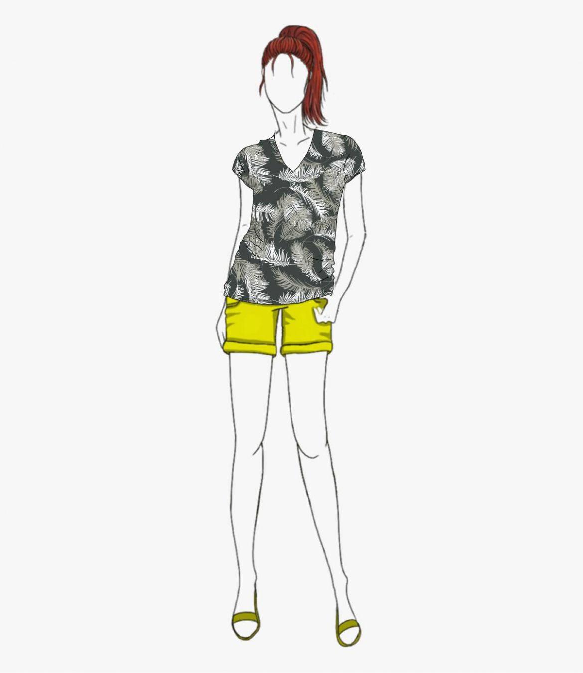 EVI PALOMA T-Shirt en Coton, Modal pour Femme Storiatipic - 1