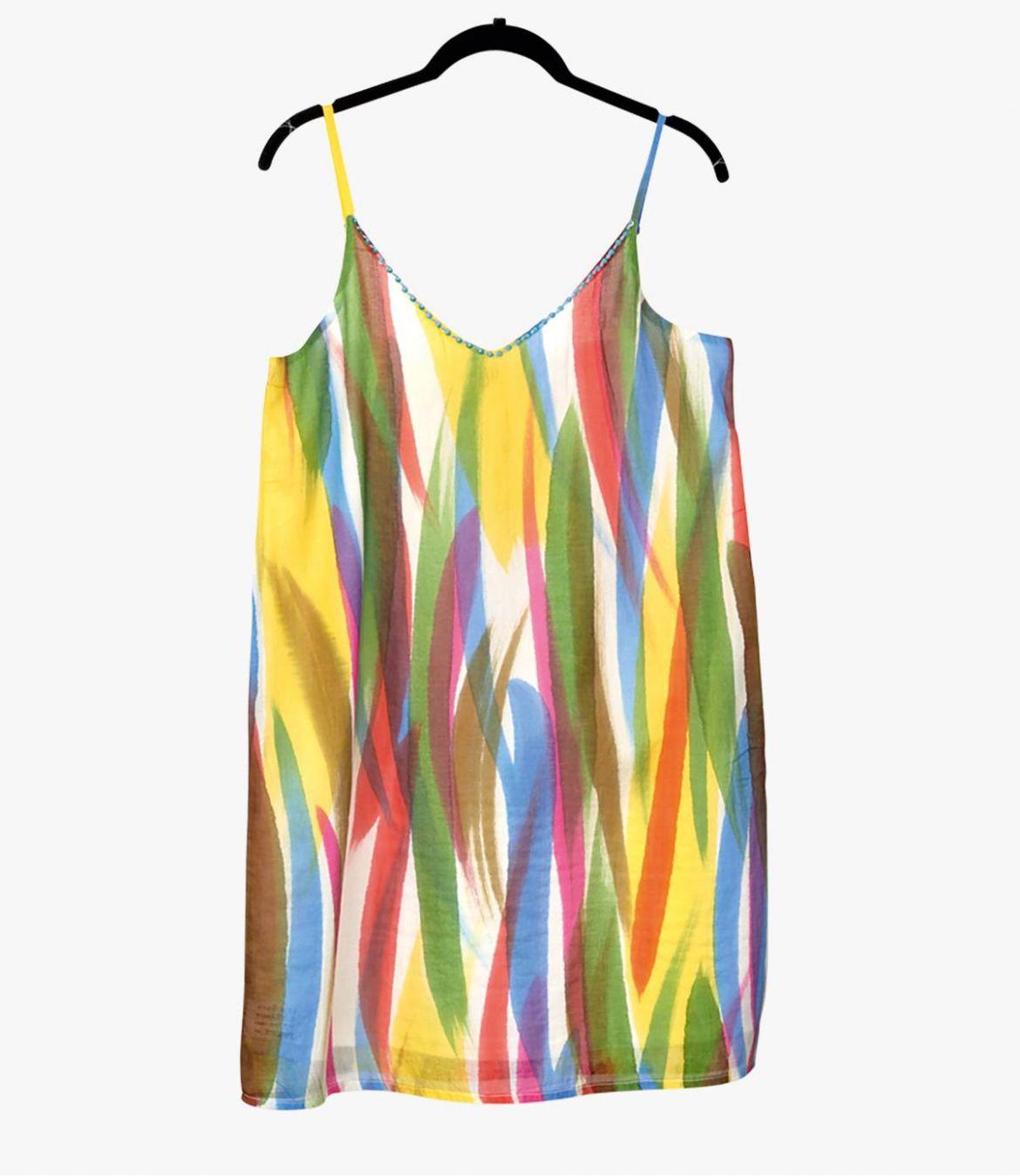 ALOA MULTI Cotton Dress for Women Storiatipic - 1