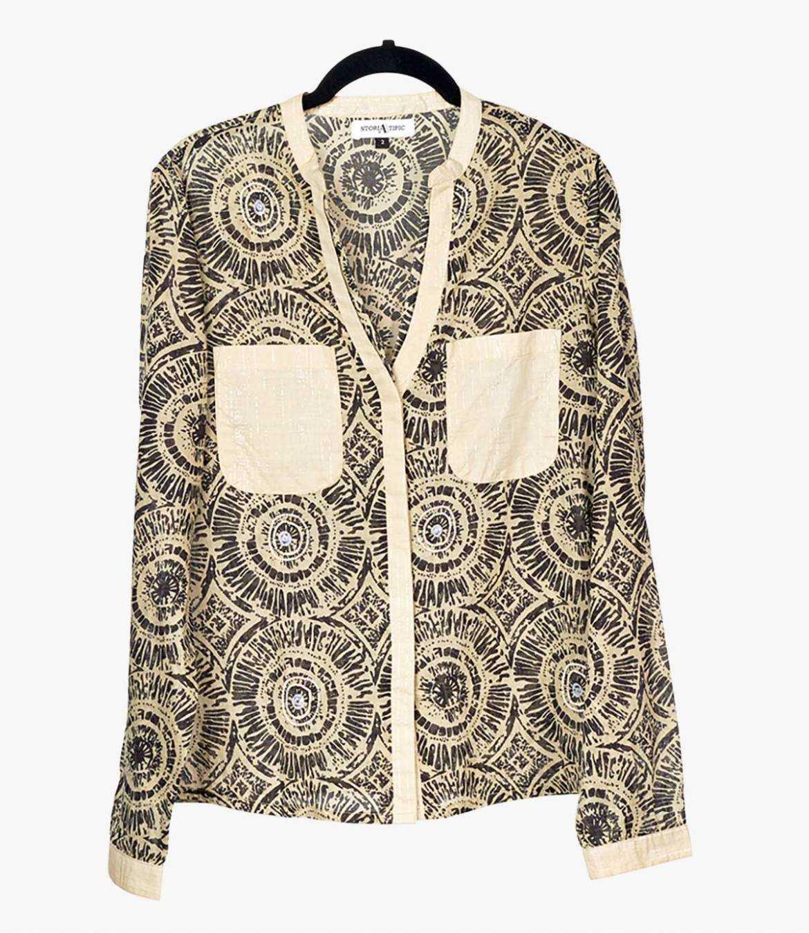 LILY SUN Cotton Blouse for Women Storiatipic - 1